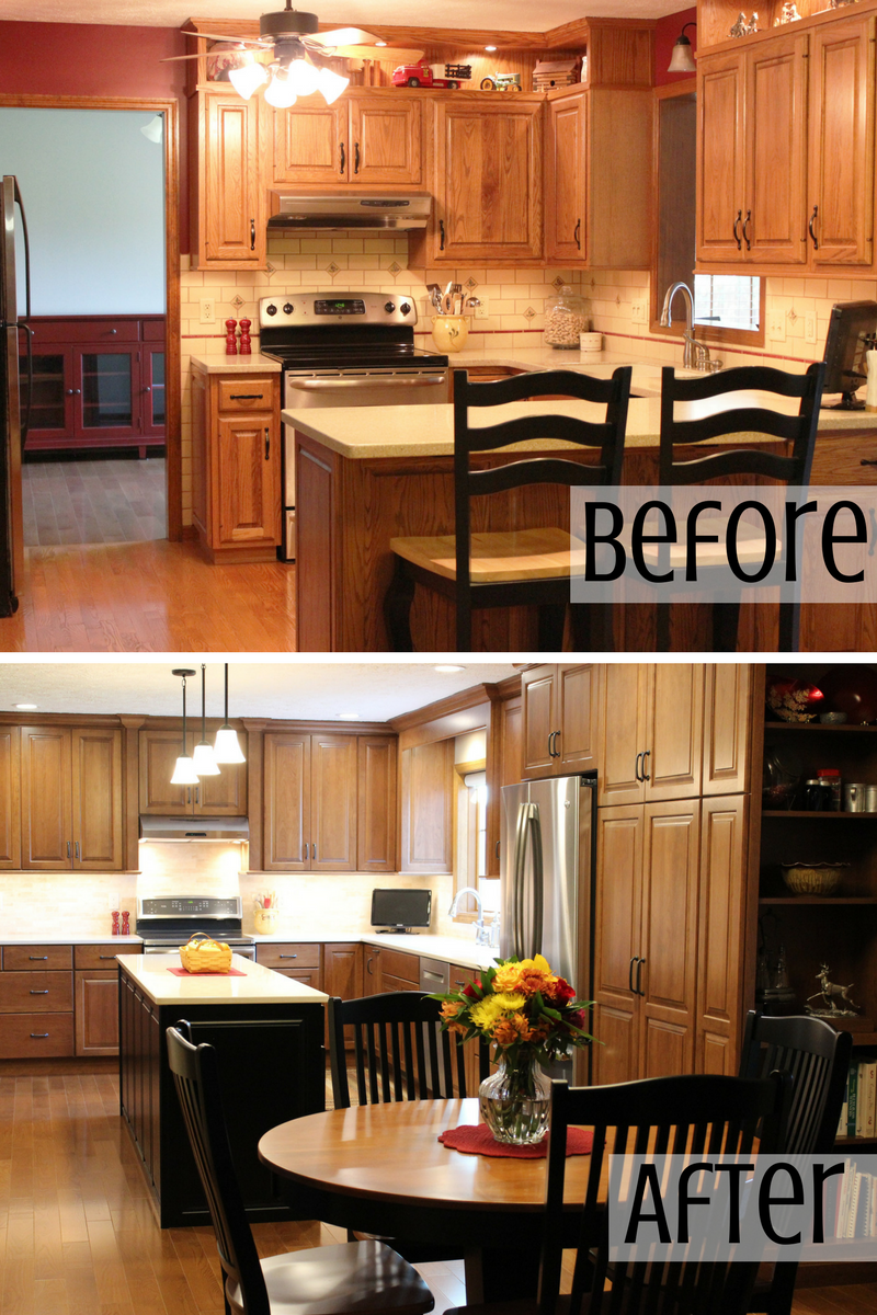 Davenport kitchen before and after remodel. | VillageHomeStores.com