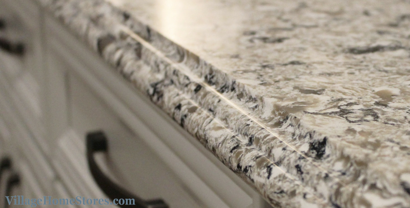 Ogee edge profile on quartz counters. | VillageHomeStores.com