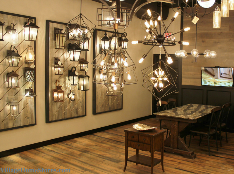 New lighting showroom at Village Home Stores in downtown Geneseo. - VillageHomeStores.com