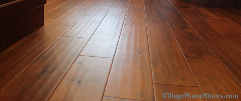 Acacia wood flooring from the Quad Cities flooring experts at Village Home Stores. | VillageHomeStores.com