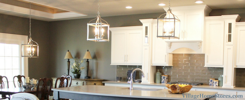 Genial Kichler Larkin 3 Light Pendant Lights Hand Above A Kitchen Island And A  Nearby Dinette
