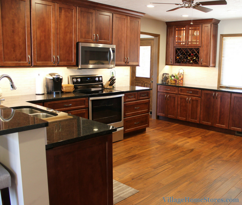 Remodeled kitchen with wall removed. | VillageHomeStores.com
