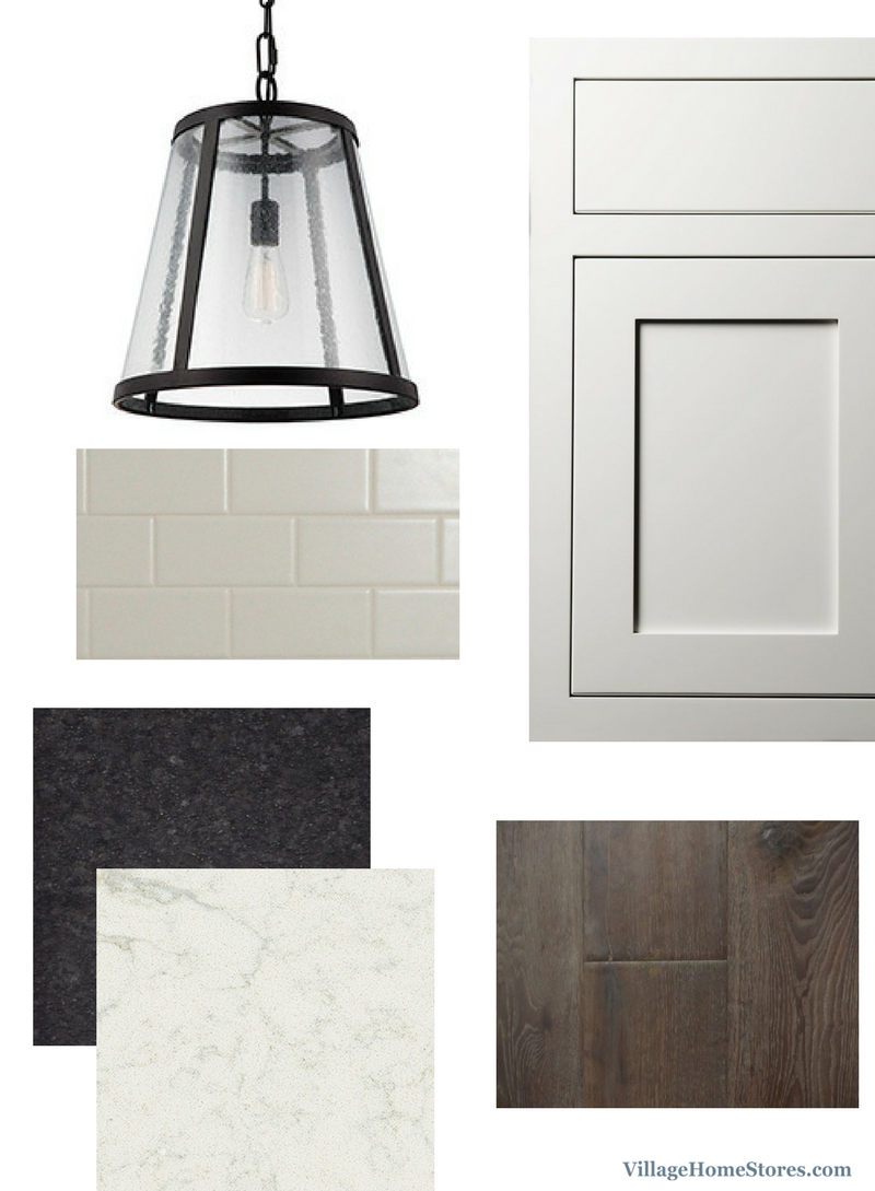 White inset doors and subway tile for a classic modern farmhouse look. Expert design and material selection for your new home. | VillageHomeStores.com
