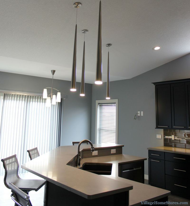Modern and Contemporary lighting by Village Home Stores in a Heartland Builders kitchen. | VillageHomeStores.com