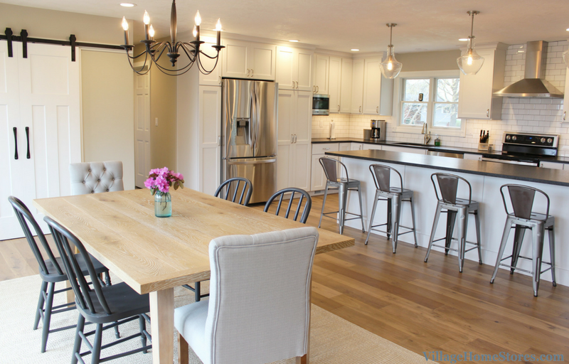 Modern farmhouse style in a remodeled Geneseo, IL kitchen. | VillageHomeStores.com