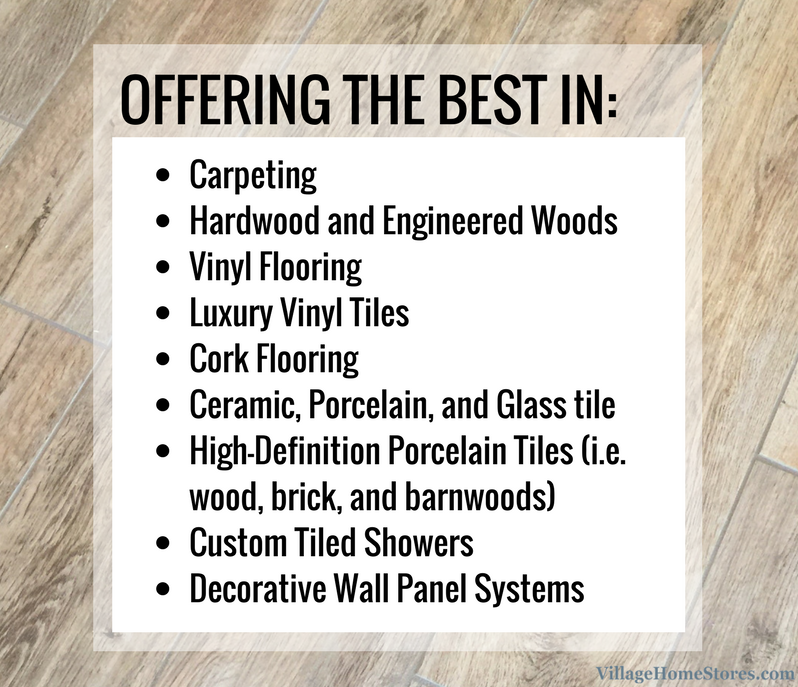 Your local low price guarantee on carpet, hardwood, luxury vinyls, tile, and more. | VillageHomeStores.com