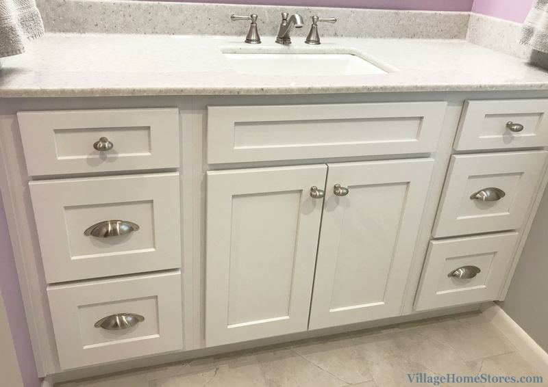 A Davenport, IA bathroom remodel designed and remodeled completely from start to finish by Village Home Stores. | VillageHomeStores.com