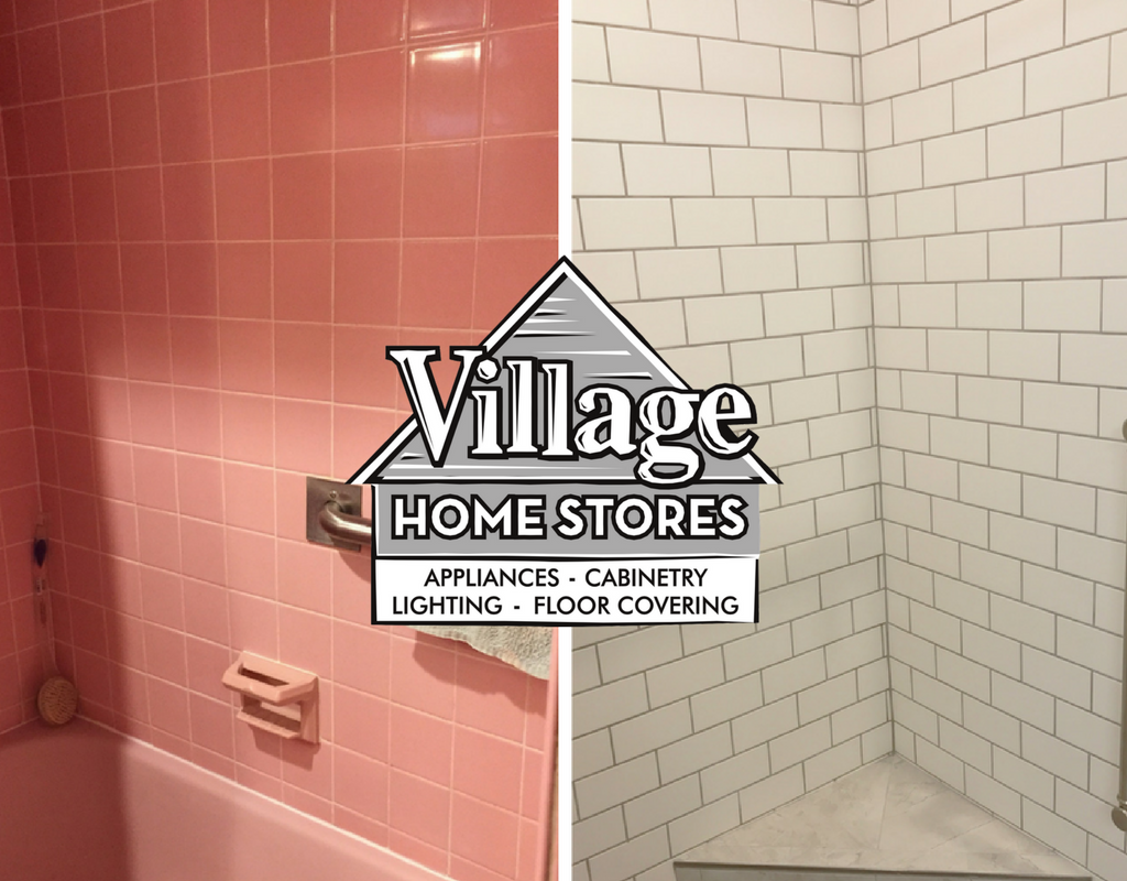 Davenport ia pink bathroom remodeled and updated for Bathroom contractors quad cities