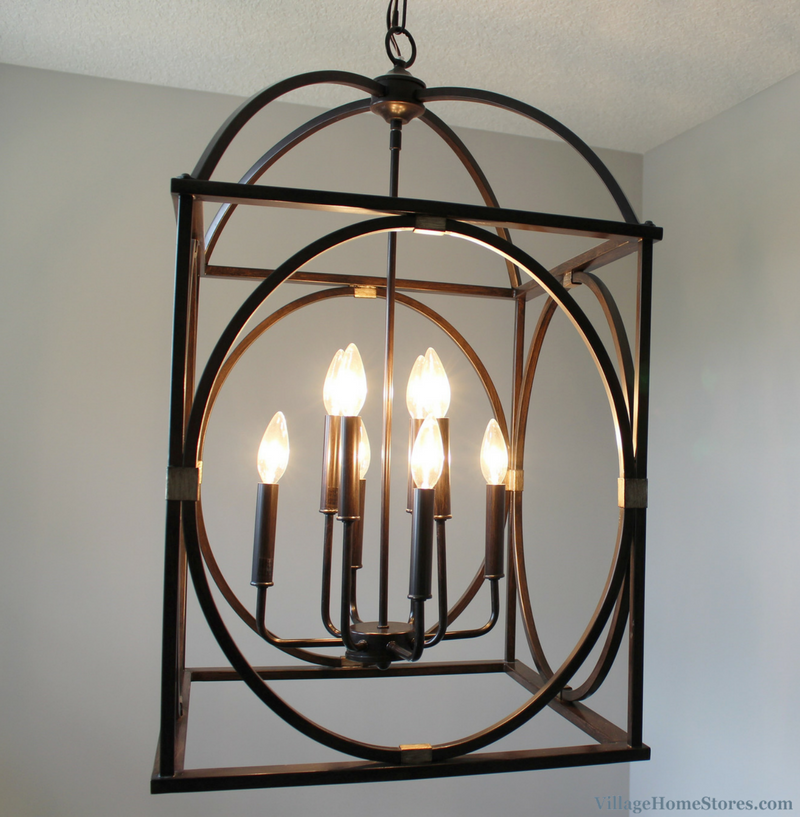 Capital light fixture in a Bettendorf, IL home. Lighting by Village Home Stores for Aspen Homes LLC. | VillageHomeStores.com