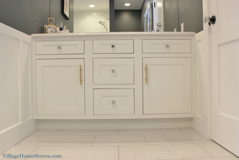 Remodeled Quad Cities bathroom with inset cabinetry by Dura Supreme. | VillageHomeStores.com