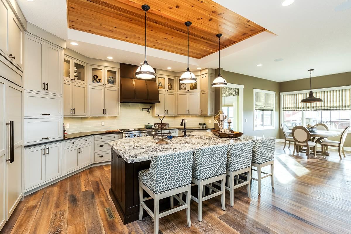 Custom kitchen cabinetry in a new home built by Bob Walter Homes. | VillageHomeStores.com | Photo by Andy Laake, Chipshot Media