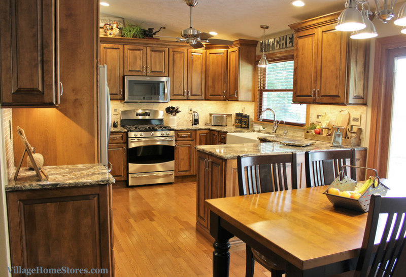 A Geneseo, IL kitchen including birch cabinets and Harlech Cambria Quartz | VillageHomeStores.com