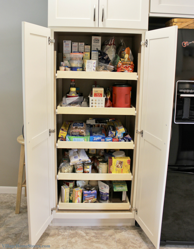 A Rock Island, IL kitchen with tall pantry cabinet. | VillageHomeStores.com