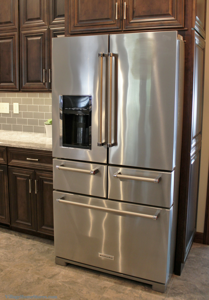 KitchenAid 5 door french door refrigerator in Stainless Steel. | VillageHomeStores.com