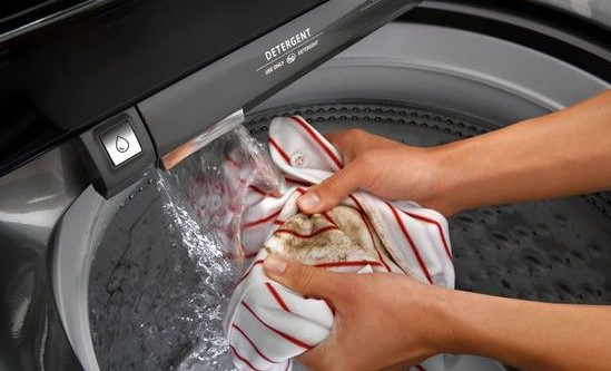 Built in faucet in washer available now. Image provided by Whirlpool®