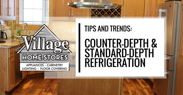 Learn about the differences between counter depth and standard depth refrigeration from Village Home Stores.