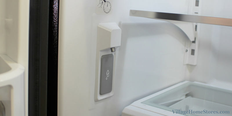 Example of an internal water dispenser in refrigerator. | VillageHomeStores.com