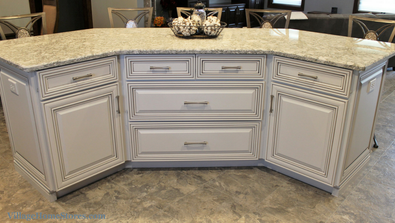 Koch cabinetry painted White with accent glaze. | VillageHomeStores.com