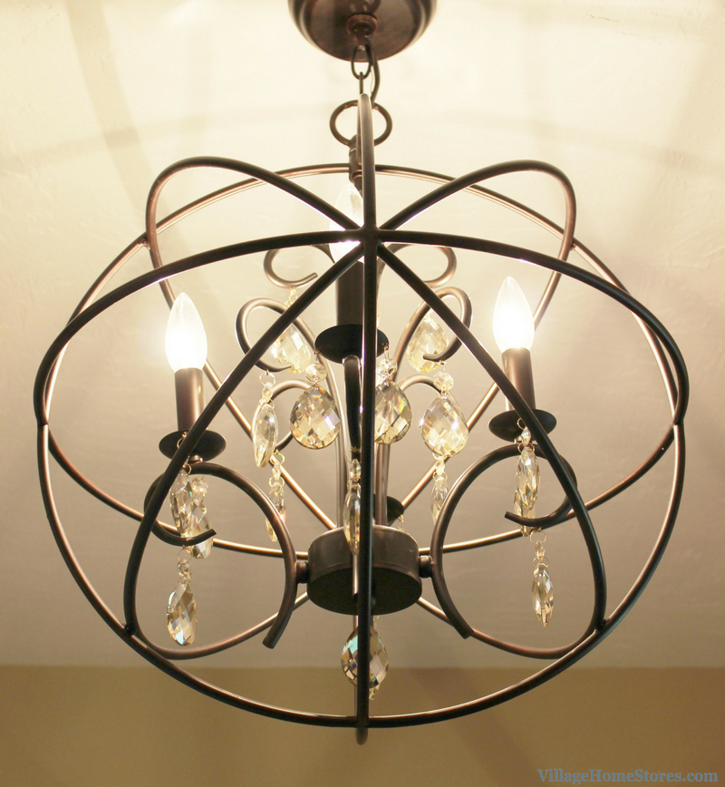 Maxim lighting 4 light orb chandelier in Moline, IL bathroom remodeled by Village Home Stores. | VillageHomeStores.com