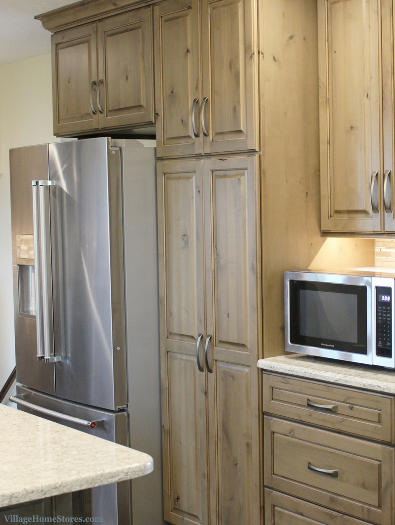 Example of a standard depth refrigerator installed in a Quad Cities kitchen. | VillageHomeStores.com