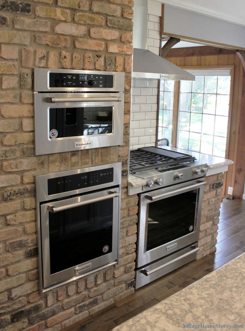 A Prophetstown, IL kitchen with KitchenAid appliances. Remodeled completely from start to finish by Village Home Stores. | VillageHomeStores.com