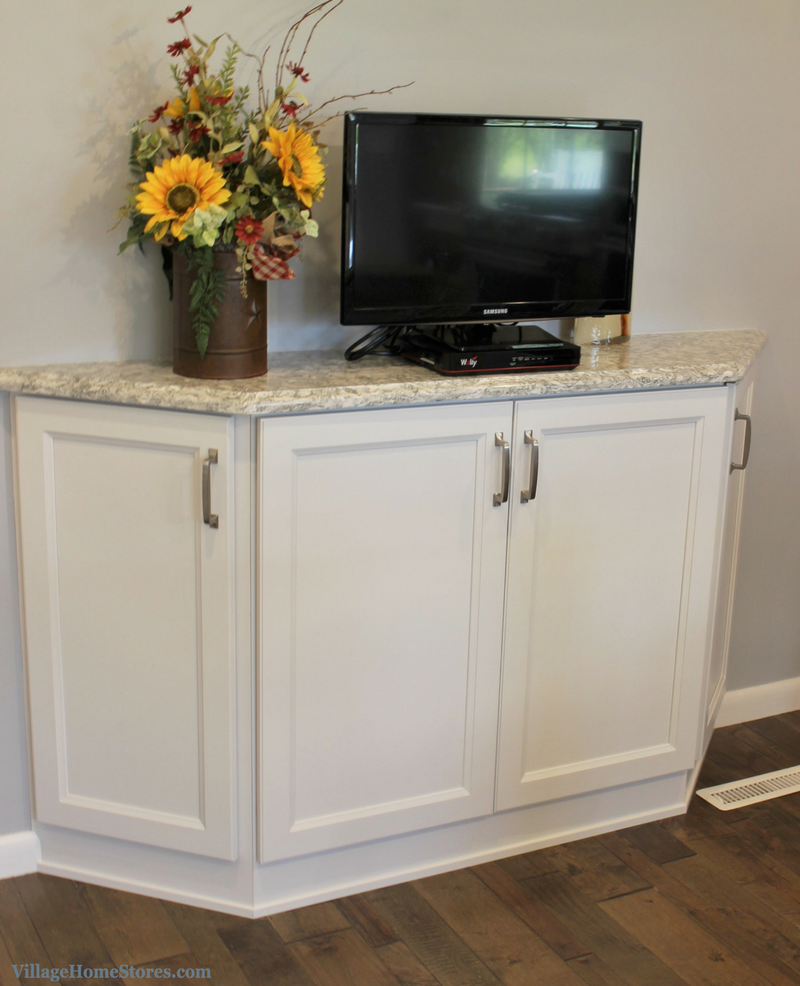 A Prophetstown, IL kitchen with angled TV cabinet. | VillageHomeStores.com