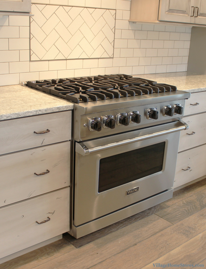 Viking Stainless Steel gas range. Kitchen appliances by Village Home Stores. | VillageHomeStores.com