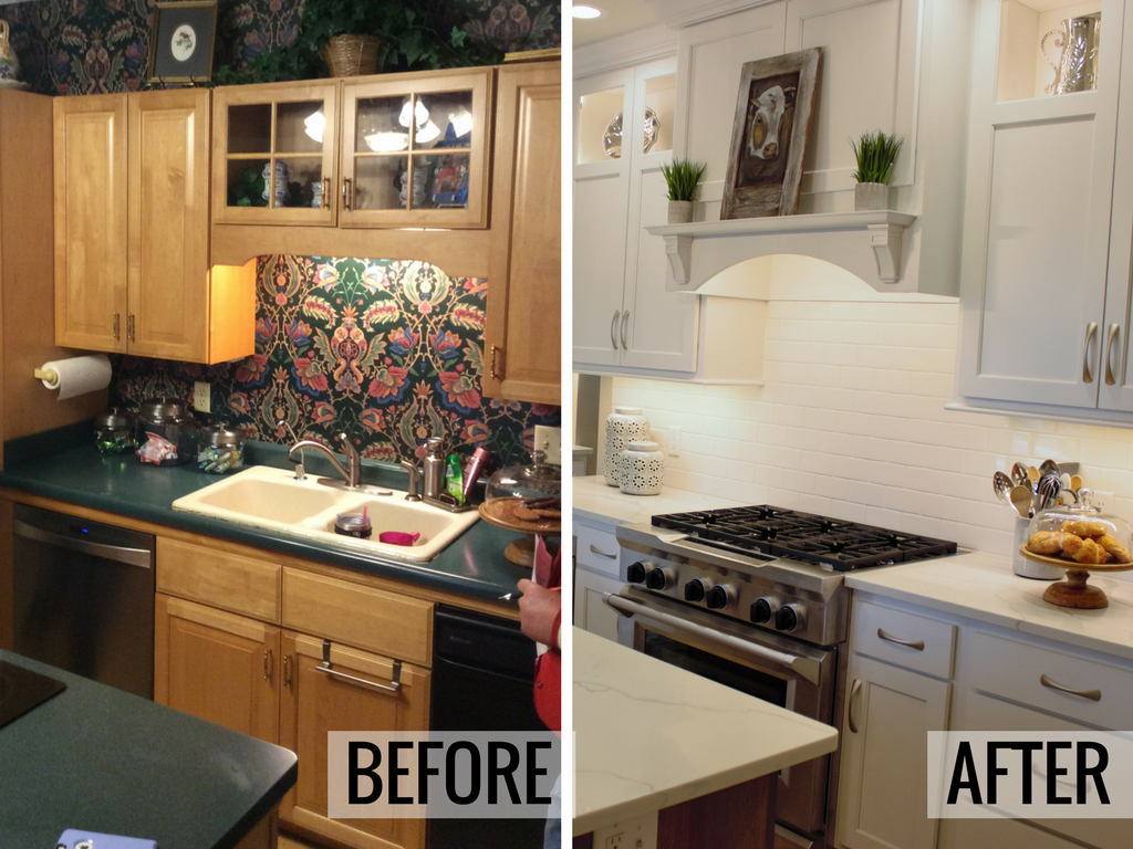 Before and after from a Historic homes remodel. Kitchen remodel by Village Home Stores. | VillageHomeStores.com