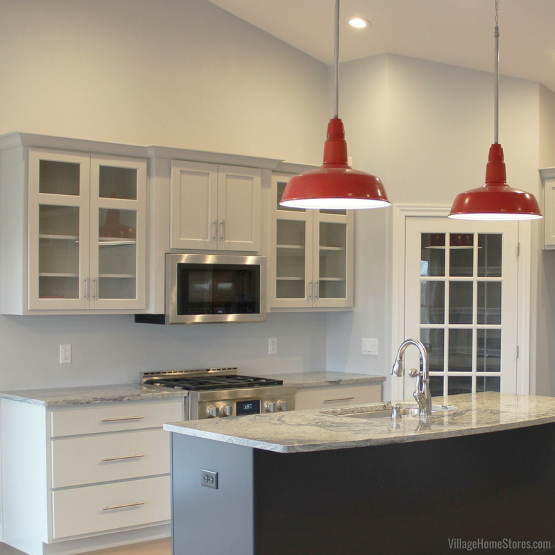 Hazelwood Homes- Kitchen With Blue Island and Schoolhouse ...