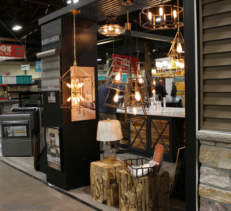 Lighting in the 2018 Quad Cities Home Show booth by Village Home Stores. | Village Home Stores