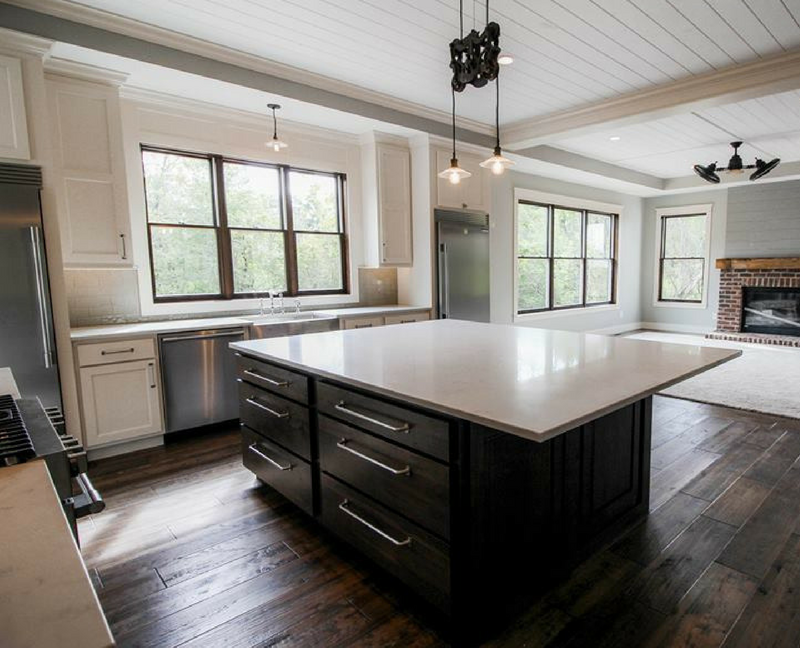 Modern Farmhouse Kitchen Cabinetry by Village Home Stores for Applestone Homes. | VillageHomeStores.com