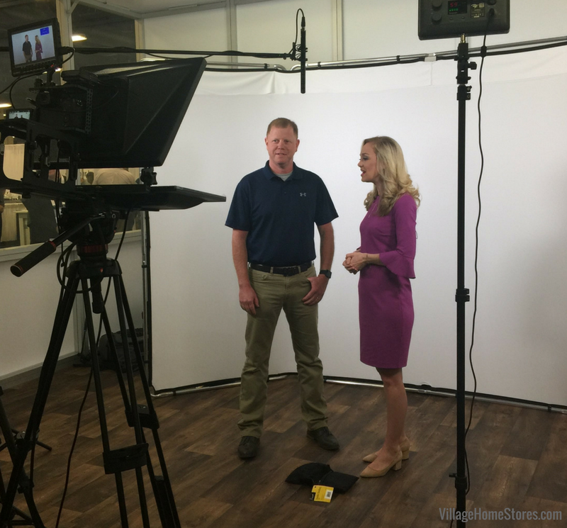 Rob Ries, co-owner of Village Home Stores filming for AVBTV at Summit 2018 | VillageHomeStores.com
