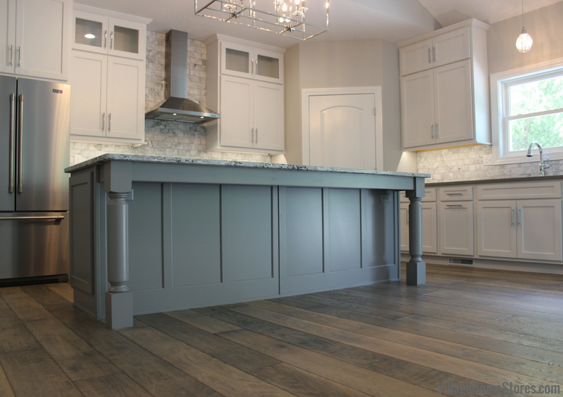 A Moline, IL kitchen with painted gray cabinets from Village Home Stores for Hazelwood Homes. | VillageHomeStores.com
