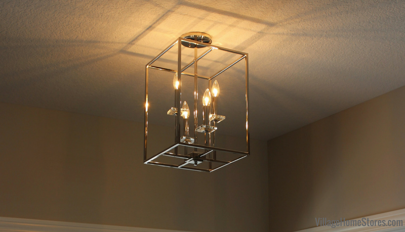 A Moline, IL home with stylish chrome lighting from Village Home Stores for Hazelwood Homes. | VillageHomeStores.com