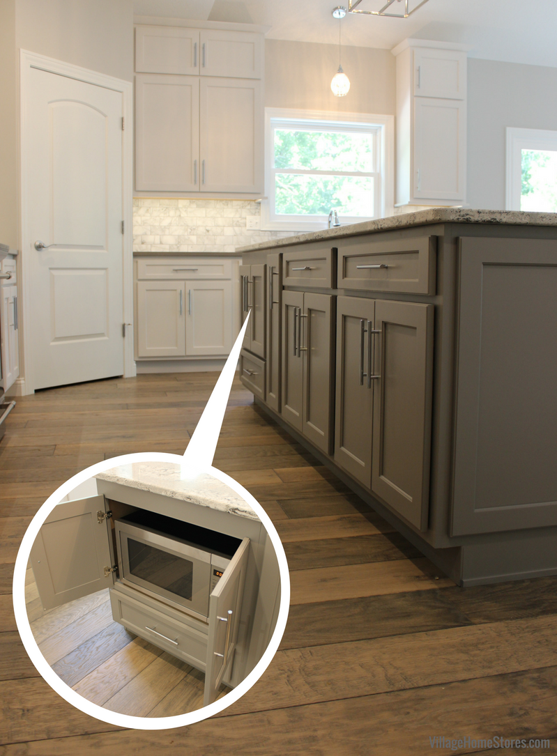A Moline, IL kitchen with hidden microwave from Village Home Stores for Hazelwood Homes. | VillageHomeStores.com