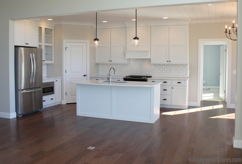 Bettendorf Iowa New Home by Aspen Homes with design and materials from Village Home Stores.