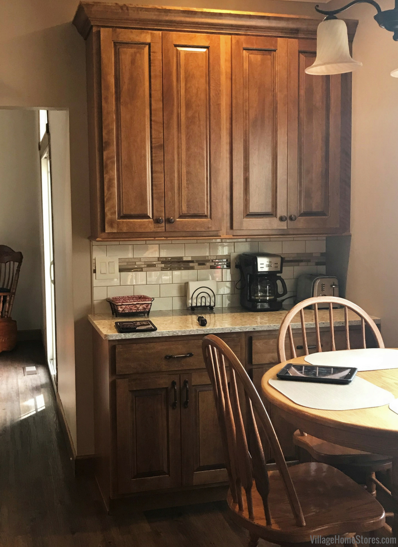 Birch Briarwood cabinetry in a remodeled Princeton, IL kitchen. | VillageHomeStores.com