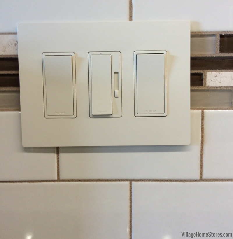 Lighting and switches by Village Home Stores. Kitchen remodeled from start to finish by Village Home Stores.