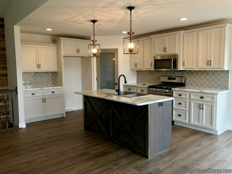 Colona Illinois New Home by Hazelwood Homes with design and materials from Village Home Stores. | villagehomestores.com