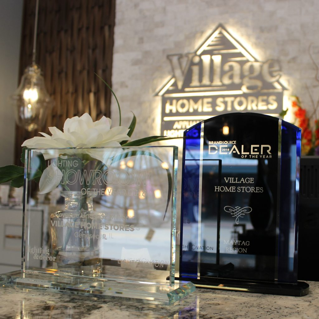 In 2018 Village Home Stores was named a Showroom of the Year by Lighting and Decor Magazine and named a 2018 BrandSource Dealer of the Year. | villagehomestores.com