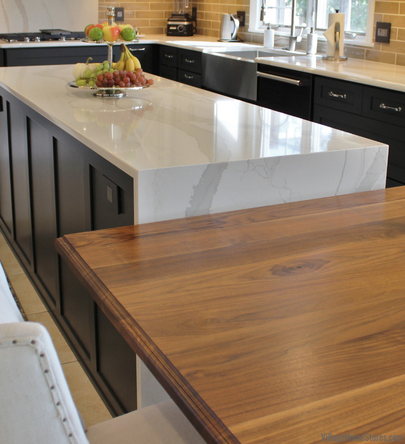 Custom countertops and wood tables. | villagehomestores.com