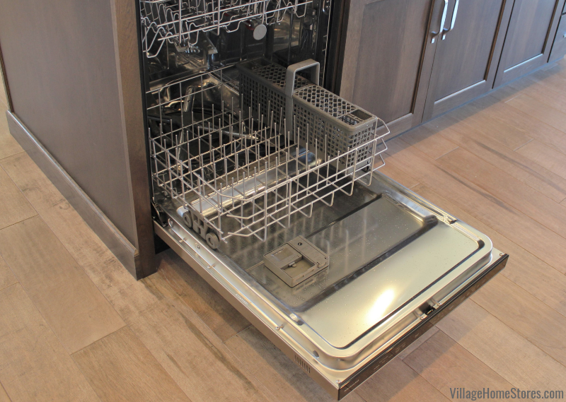 KitchenAid Stainless Steel dishwasher in a Bettendorf, Iowa home. | villagehomestores.com
