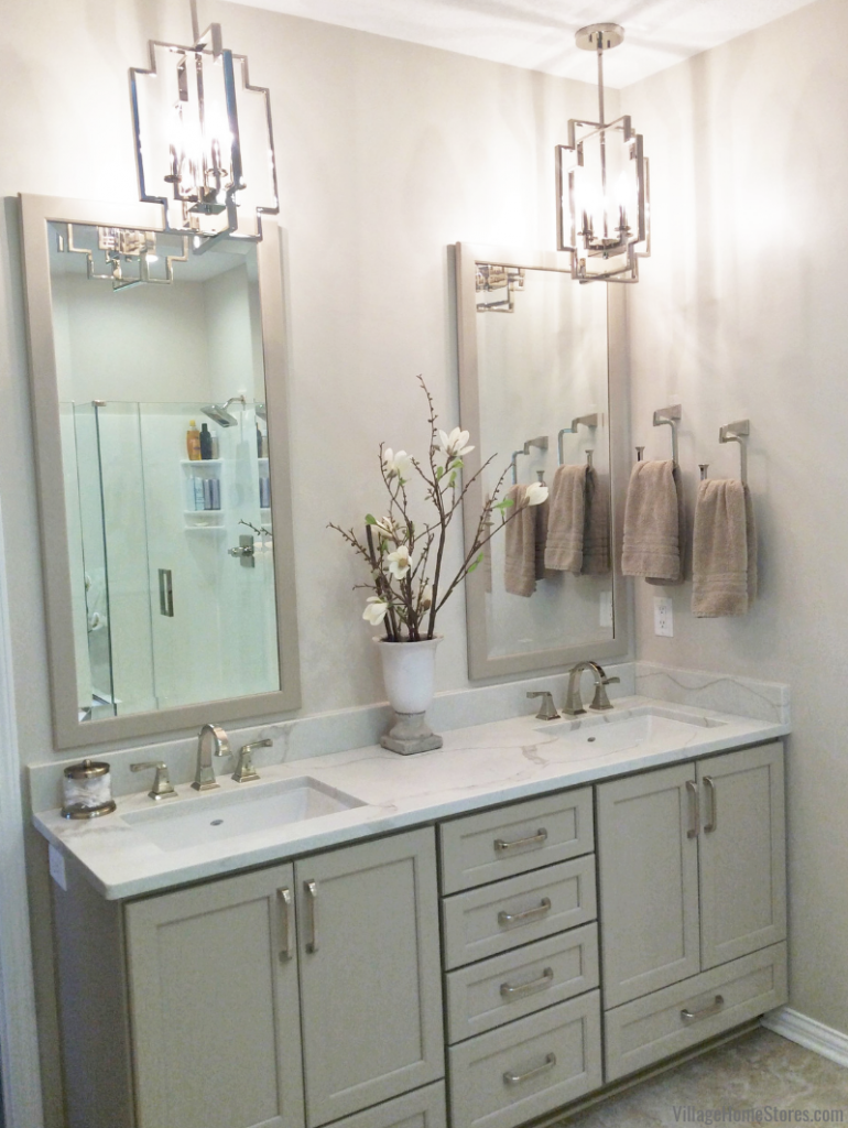 Bathroom remodel with Dura Supreme Cabinetry in Bettendorf, Iowa. | villagehomestores.com