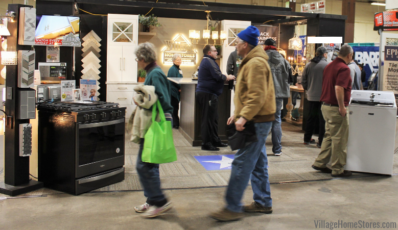 Quad Cities Builders and Remodelers Home Show event held annually at the QCCA Expo Center in Downtown Rock Island. Village Home Stores 2019 booth. | villagehomestores.com