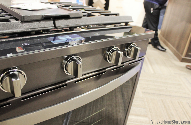 Whirlpool's new connected range in Black Stainless Steel. | villagehomestores.com