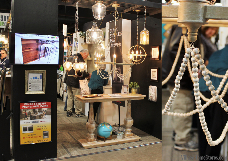 Coastal styled lighting for your home. Lighting selections shown at the 2019 QCBR Home Show. | villagehomestores.com
