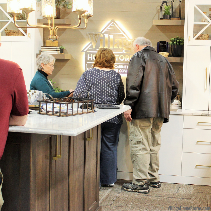 QCBR Home Show event held annually at the QCCA Expo Center in Downtown Rock Island. Village Home Stores 2019 booth. | villagehomestores.com