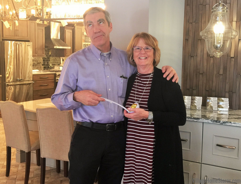 The winner of the Village Home Stores Staff Soup Cookoff was MaryBeth. She was beyond thrilled to steal the title from her brother in law Gregg who won last year.