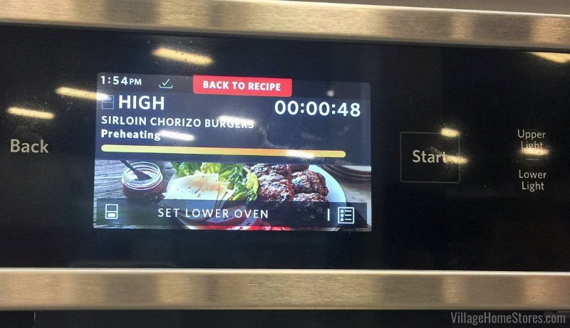 KitchenAid's smart oven with recipe guide. On-screen tutorials help users get comfortable with their new powered attachments. 3 recipes for each attachment available. | villagehomestores.com