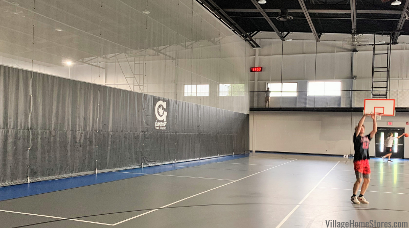 Roller shades installed on the newly updated indoor walking track at the Geneseo Park District Community Center.